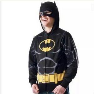 DC Comics Boys Batman Hoodie Size S/M, L/XL NWTs